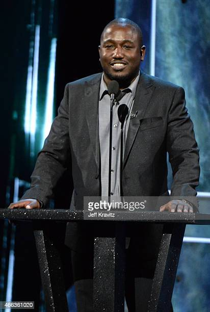 Comedian Hannibal Buress speaks onstage at The Comedy Central Roast of Justin Bieber at Sony Pictures Studios on March 14, 2015 in Los Angeles,...