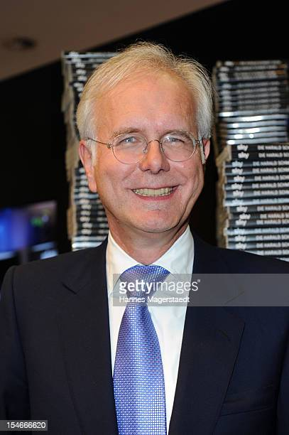 Comedian Harald Schmidt attends the exibition stand of SKY during the media days at the ICM on October 24 2012 in Munich Germany