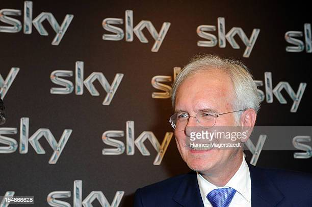 Comedian Harald Schmidt attends the exibition stand of SKY during the Media Days at the ICM on October 24, 2012 in Munich, Germany.