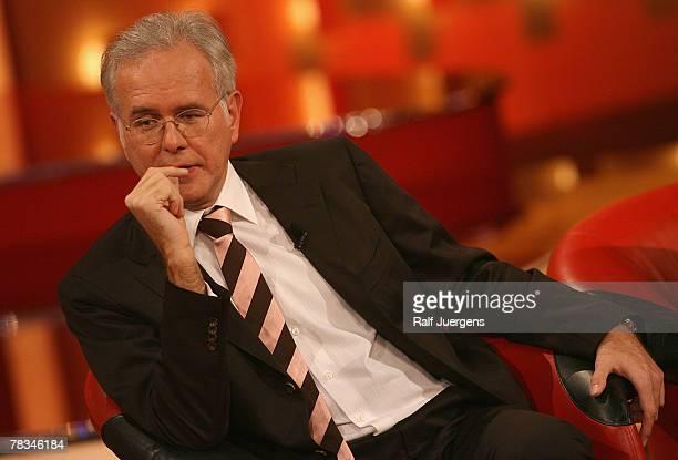 Comedian Harald Schmidt attends the live broadcast of the German TV show '2007 Menschen Bilder Emotionen' December 9 2007 in Cologne Germany