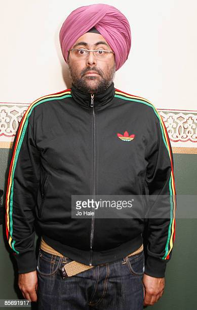Comedian Hardeep Singh Kohli poses for a photo during the sixth and final night of a series of concerts and events in aid of Teenage Cancer Trust...