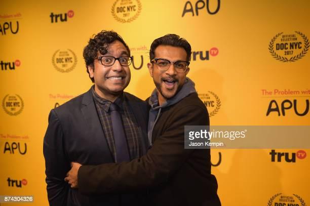 Comedian Hari Kondabolu and actor Utkarsh Ambudkar attend truTV Presents The Problem With Apu DOC NYC screening and reception at Rahi on November 14...