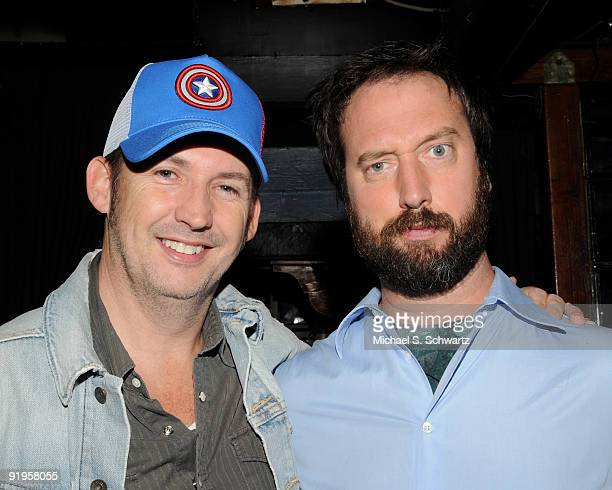 Comedian Harland Williams and actor/comedian Tom Green pose at The Ice House Comedy Club on October 15 2009 in Pasadena California