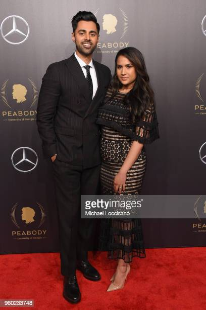 Comedian Hasan Minhaj and Beena Patel attend The 77th Annual Peabody Awards Ceremony at Cipriani Wall Street on May 19 2018 in New York City