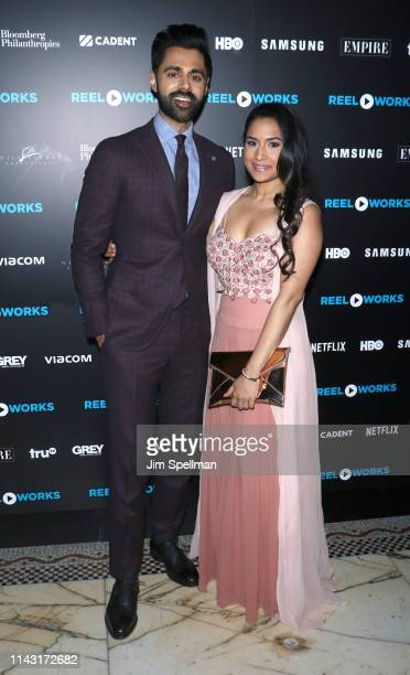 Comedian Hasan Minhaj and wife Beena Patel attend the Reel Works Benefit Gala 2019 at Capitale on April 16, 2019 in New York City.