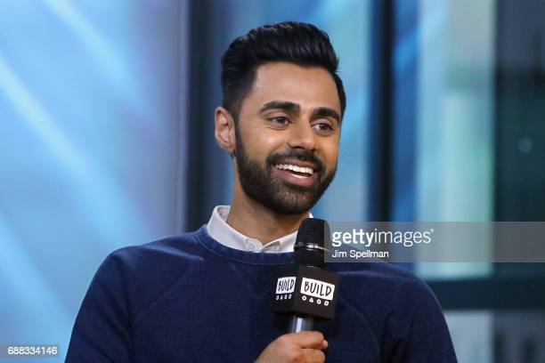 """Comedian Hasan Minhaj attends Build to discuss his new Netflix special """"Hasan Minhaj: Homecoming King"""" at Build Studio on May 25, 2017 in New York..."""