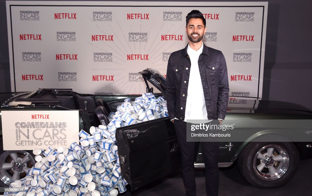 Comedian Hasan Minhaj attends Comedians in Cars Getting Coffee - New York Event at Classic Car Club Manhattan on June 25, 2018 in New York City.