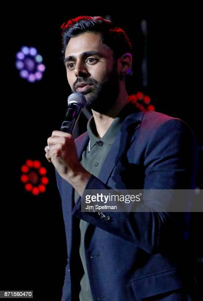 Comedian Hasan Minhaj attends the 11th Annual Stand Up for Heroes at The Theater at Madison Square Garden on November 7 2017 in New York City
