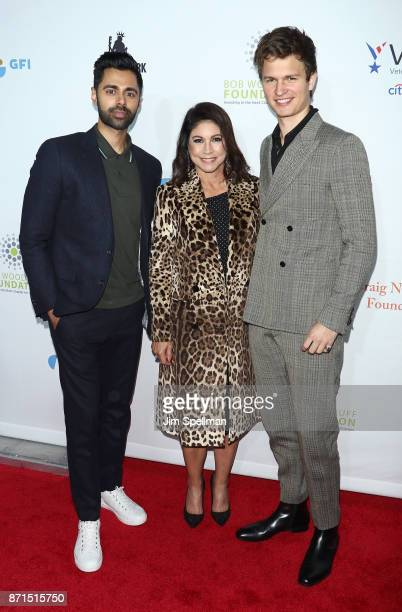 Comedian Hasan Minhaj founder and owner of the New York comedy club Carolines Caroline Hirsch and actor Ansel Elgort attend the 11th Annual Stand Up...