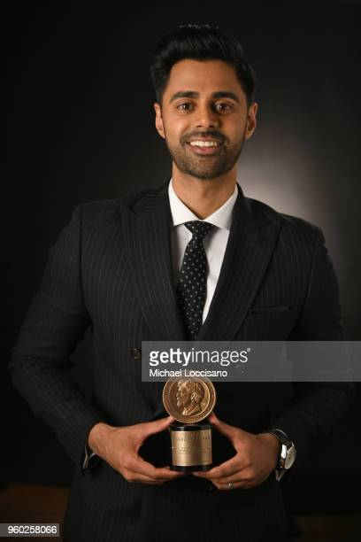 Comedian Hasan Minhaj poses with a Peabody Award at The 77th Annual Peabody Awards Ceremony at Cipriani Wall Street on May 19, 2018 in New York City.