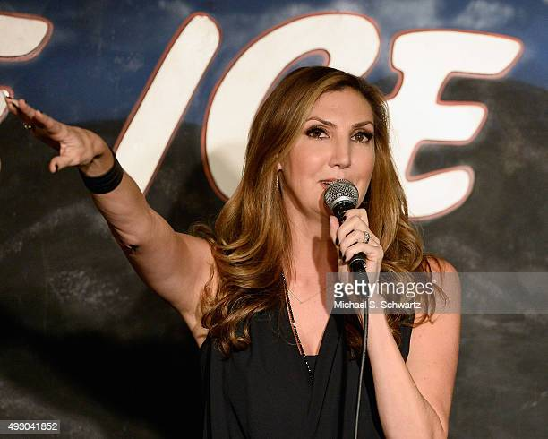 Comedian Heather McDonald performs during her appearance at The Ice House Comedy Club on October 16 2015 in Pasadena California