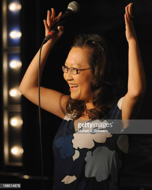 Comedian Helen Hong performs during her appearance at The Ice House Comedy Club on November 15 2012 in Pasadena California