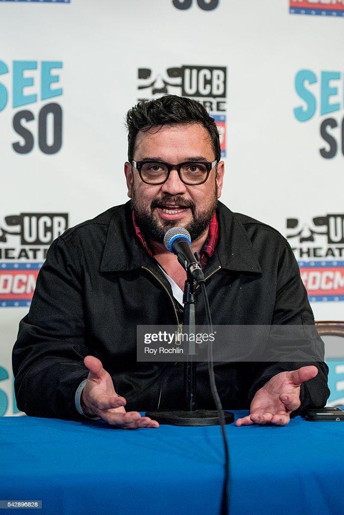 Comedian Horatio Sanz attends the 18th Annual Del Close Improv Comedy Marathon Press Conference at Upright Citizens Brigade Theatre on June 24, 2016 in New York City.