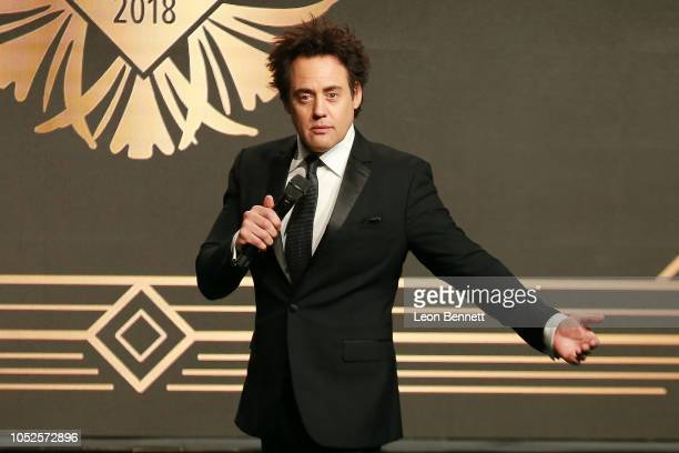Comedian Host Orny Adams speaks to the crowd during Big Brothers Big Sisters Of Greater Los Angeles Big Bash Gala Inside at The Beverly Hilton Hotel...