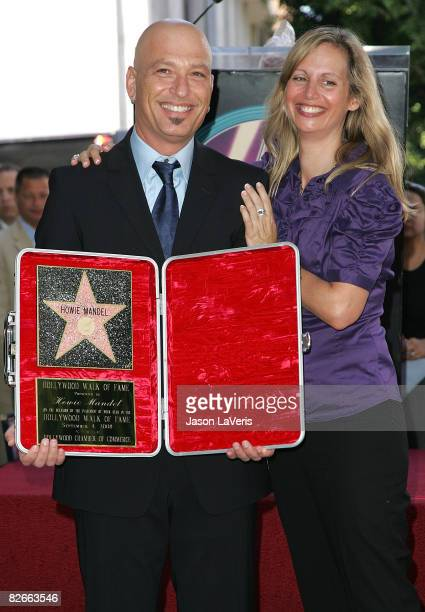 Comedian Howie Mandel and wife Terry Soil attend Howie Mandel's star ceremony on the Hollywood Walk of Fame on September 4 2008 in Hollywood...