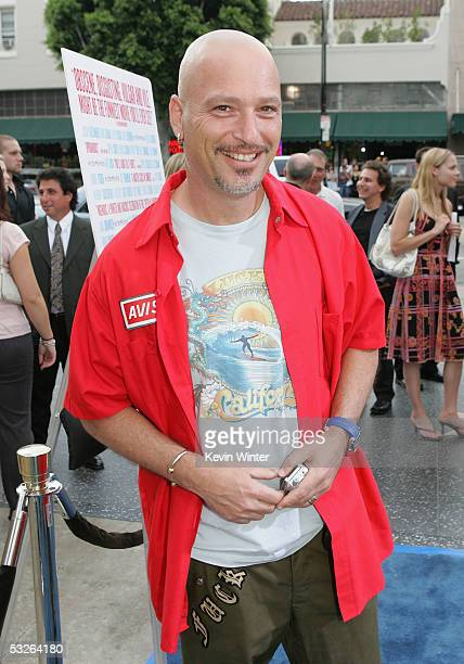 Comedian Howie Mandel arrives for the Los Angeles premiere of the The Aristocrats on July 20 2005 at the the Egyptian Theatre in Hollywood California