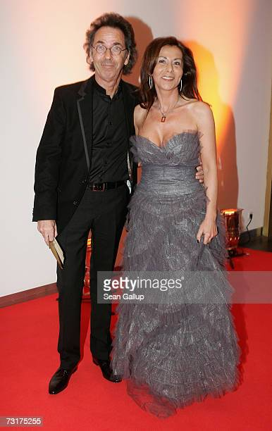 Comedian Hugo Egon Balder and his wife Canan Balder attend the 42nd Goldene Kamera Awards February 1 2007 in Berlin Germany