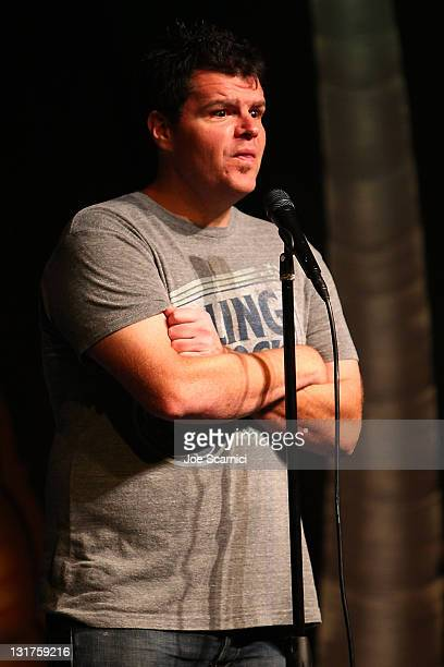 """Comedian Ian Bagg performs at """"A Benefit For RX Laughter"""" presented by Junior Hollywood Radio & Television at Jon Lovitz Comedy Club on July 8, 2010..."""