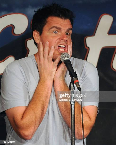 Comedian Ian Bagg performs during his appearance at The Ice House Comedy Club on September 29 2012 in Pasadena California