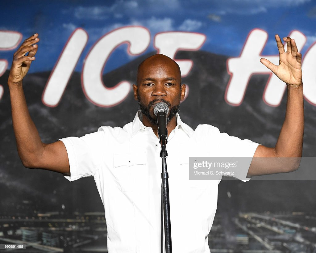 Comedian Ian Edwards performs during his appearance at The Ice House Comedy Club on July 11, 2018 in Pasadena, California.