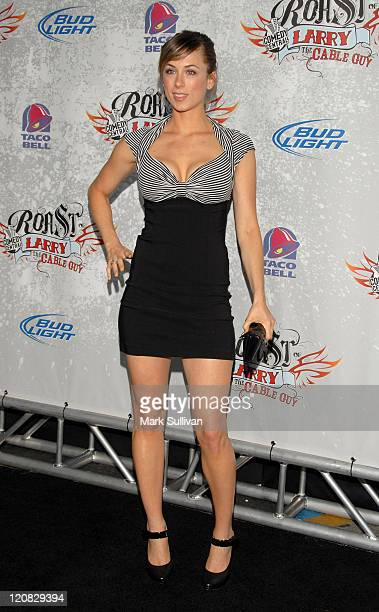Comedian Iliza Shlesinger arrives at Comedy Central presents Roast of Larry The Cable Guy at Warner Brothers on March 1 2009 in Burbank California