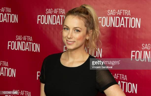 Comedian Iliza Shlesinger attends SAGAFTRA Foundation Conversations screening of Iliza Elder Millennial at SAGAFTRA Foundation Screening Room on...