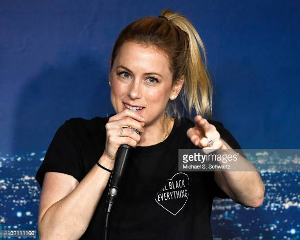 Comedian Iliza Shlesinger performs during her appearance at The Ice House Comedy Club on March 22 2019 in Pasadena California