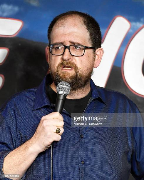 Comedian J Elvis Weinstein performs during his appearance at The Ice House Comedy Club on February 2 2018 in Pasadena California