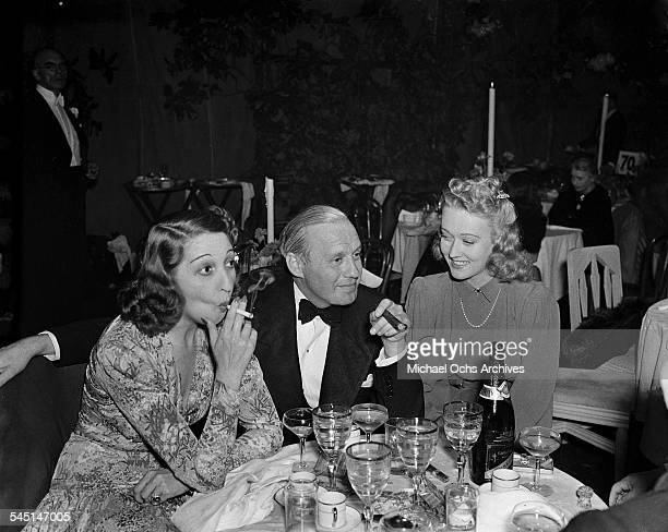 Comedian Jack Benny and wife Mary Livingston attend an event in Los Angeles California