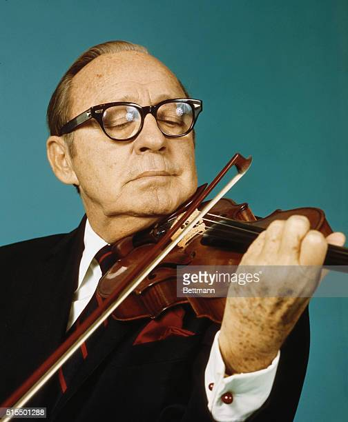 Comedian Jack Benny Playing The Violin