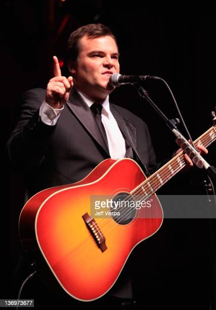 """Comedian Jack Black of Tenacious D performs onstage at """"Hilarity For Charity"""" To Benefit The Alzheimer's Association at Vibiana on January 13, 2012..."""