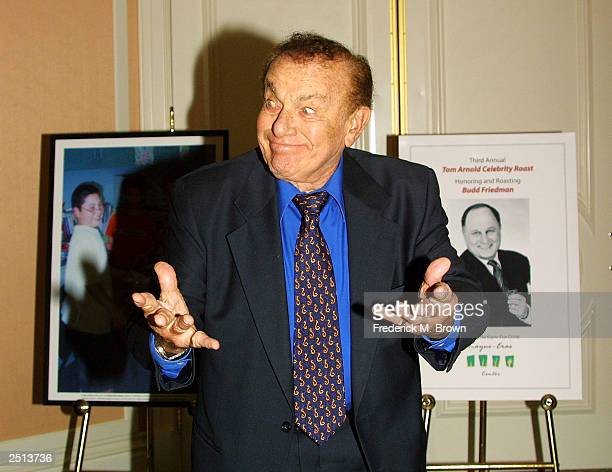 Comedian Jack Carter attends the Third Annual Tom Arnold Celebrity Roast at the Beverly Hills Hotel on September 19 2003 in Beverly Hills California...