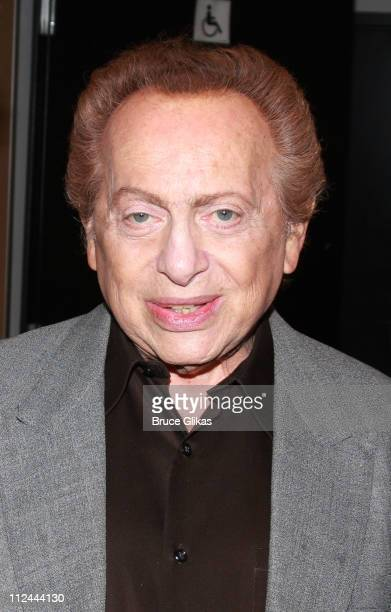 """Comedian Jackie Mason poses backstage at Jackie Mason's New Farewell NYC Show """"The Ultimate Jew"""" at The New World Stages on May 13, 2008 in New York..."""