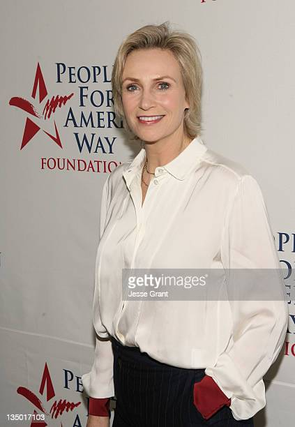 Comedian Jane Lynch arrives at People For The American Way 30th Anniversary Celebration at the Beverly Wilshire Four Seasons Hotel on December 5,...