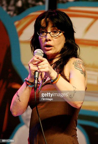 Comedian Janeane Garofalo performs at the Comedy Carnivale during Bonnaroo 2009 on June 11 2009 in Manchester Tennessee