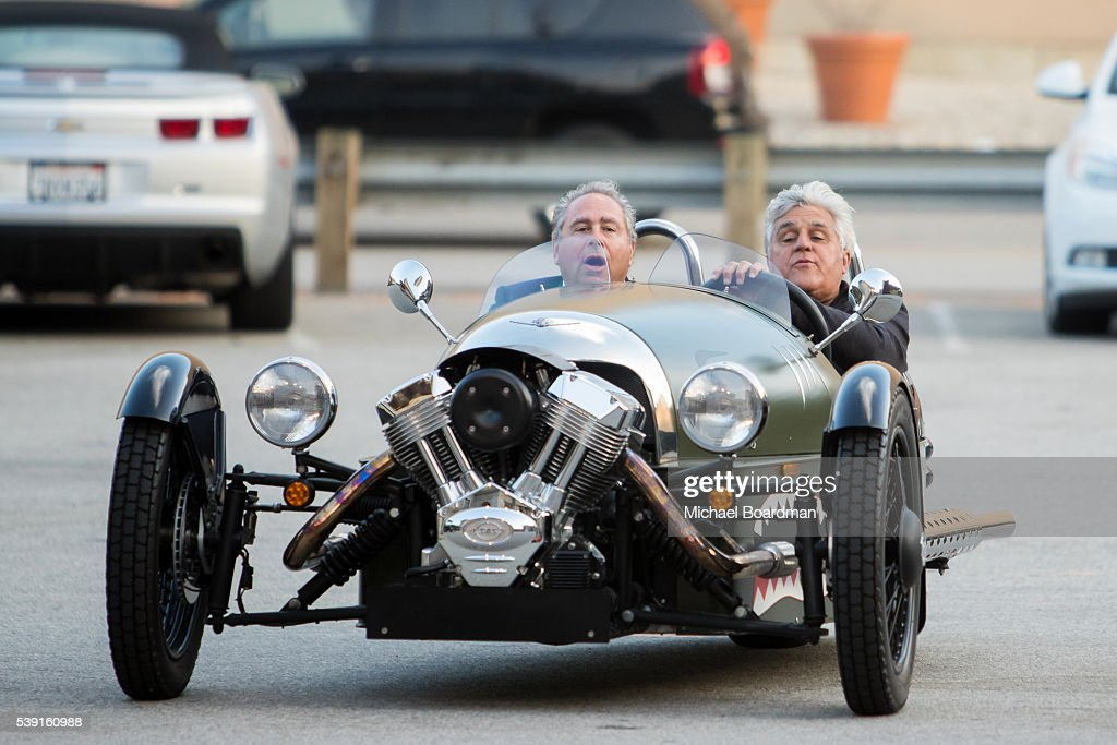 Comedian Jay Leno And Cnbc Chairman Marc Hoffman Attends The