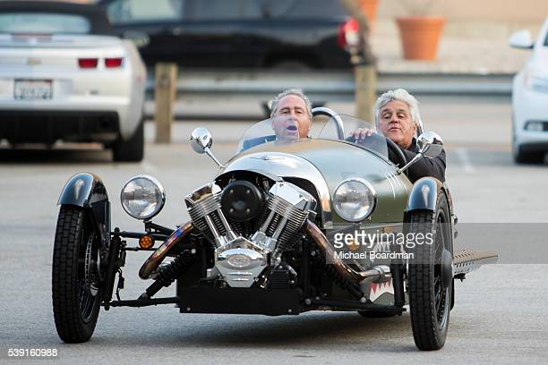 """Comedian Jay Leno and CNBC Chairman Marc Hoffman attends the premiere of CNBC's """"Jay Leno's Garage"""" Season 2 at the Universal Studios Backlot on June..."""