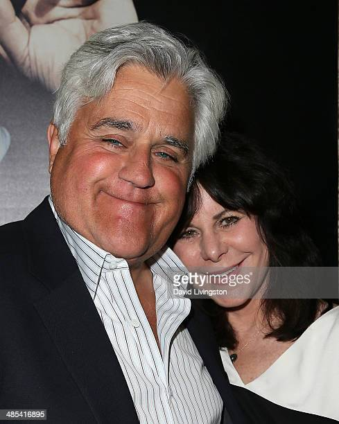 Comedian Jay Leno and wife Mavis Leno attend an exclusive presentation of HBO's Billy Crystal 700 Sundays at the Ray Kurtzman Theater on April 17...