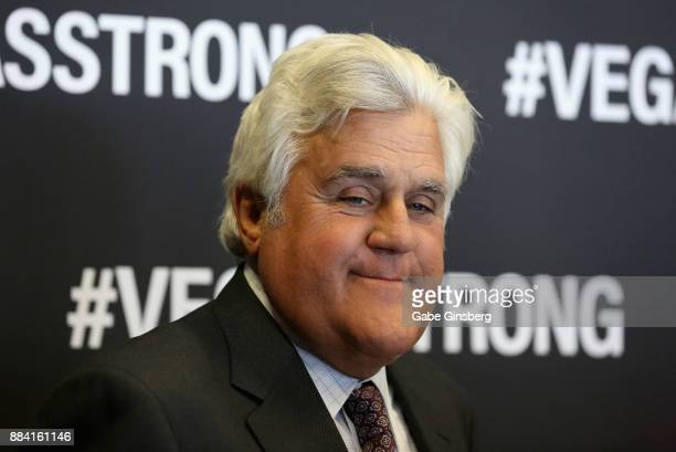 Comedian Jay Leno attends the Vegas Strong Benefit Concert at TMobile Arena to support victims of the October 1 tragedy on the Las Vegas Strip on...