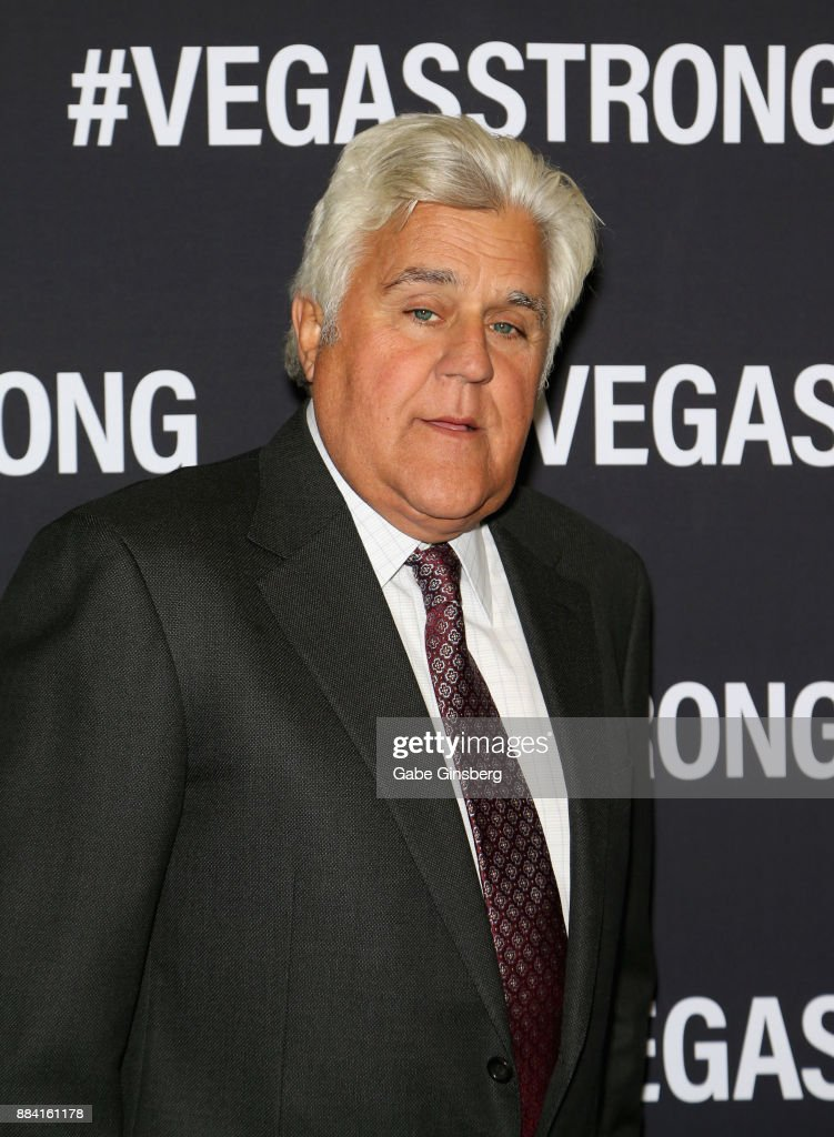 Comedian Jay Leno attends the Vegas Strong Benefit Concert at T-Mobile Arena to support victims of the October 1 tragedy on the Las Vegas Strip on December 1, 2017 in Las Vegas, Nevada.