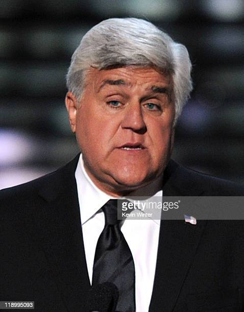 Comedian Jay Leno speaks onstage at The 2011 ESPY Awards at Nokia Theatre LA Live on July 13 2011 in Los Angeles California