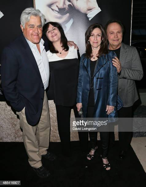 Comedian Jay Leno wife Mavis Leno Janice Crystal and husband comedian Billy Crystal attend an exclusive presentation of HBO's Billy Crystal 700...