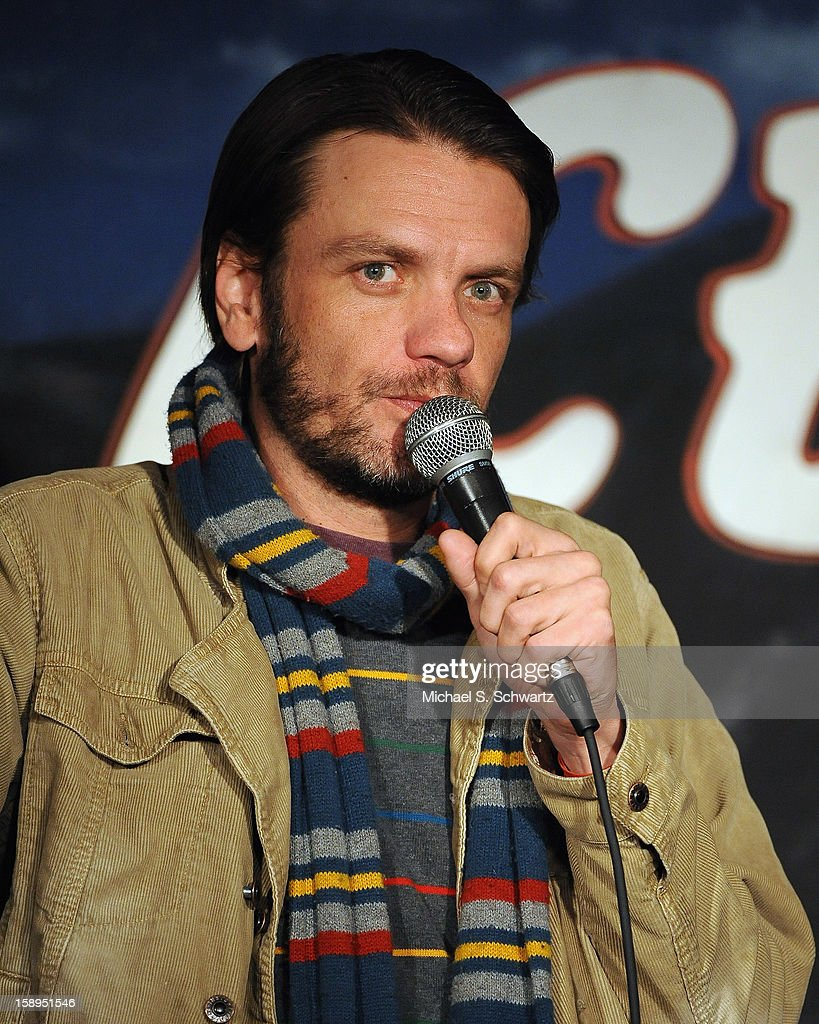 Comedian Jayson Thibault performs during his appearance at The Ice House Comedy Club on January 3, 2013 in Pasadena, California.