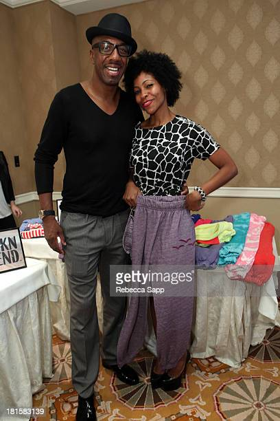 Comedian JB Smoove and wife Shahidah Omar attend the HBO Luxury Lounge featuring Motorola and PANDORA Jewelry in honor of The 65th Primetime Emmy...