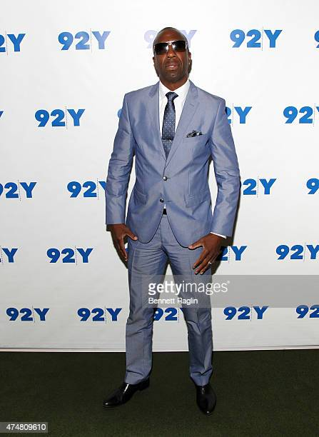 Comedian JB Smoove poses for a picture during the Richard Lewis In Conversation with JB Smoove at 92nd Street Y on May 26 2015 in New York City