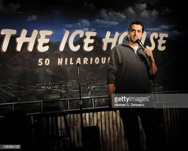 Comedian Jeff Cesario performs at The Ice House Comedy Club on October 3 2010 in Pasadena California