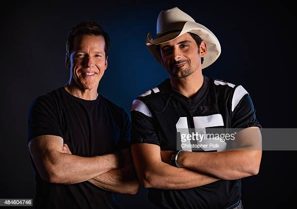 Comedian Jeff Dunham and musician Brad Paisley pose for a photo during Jeff Dunham Unhinged In Hollywood Featuring Special Guest Brad Paisley on...