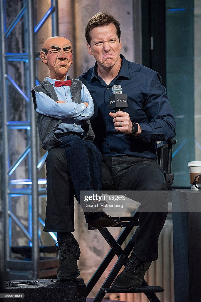 Comedian Jeff Dunham and 'Walter' attend the AOL BUILD Speaker Series at AOL Studios In New York on September 15, 2015 in New York City.