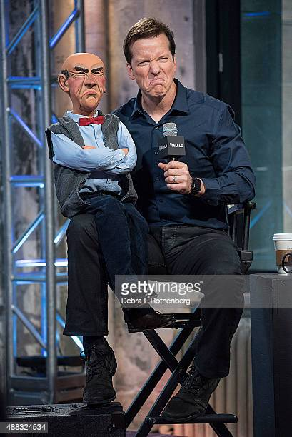 Comedian Jeff Dunham and 'Walter' attend the AOL BUILD Speaker Series at AOL Studios In New York on September 15 2015 in New York City