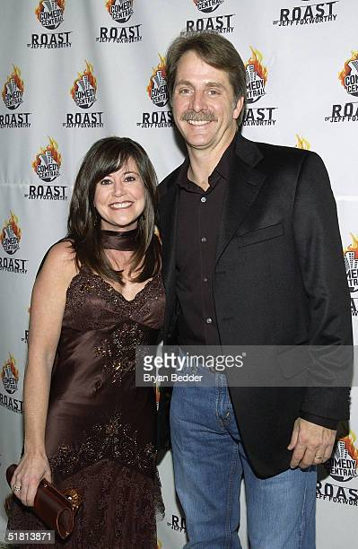Comedian Jeff Foxworhty and wife Gregg arrive to the Comedy Centrals Jeff Foxworthy Roast December 1 2004 in New York City